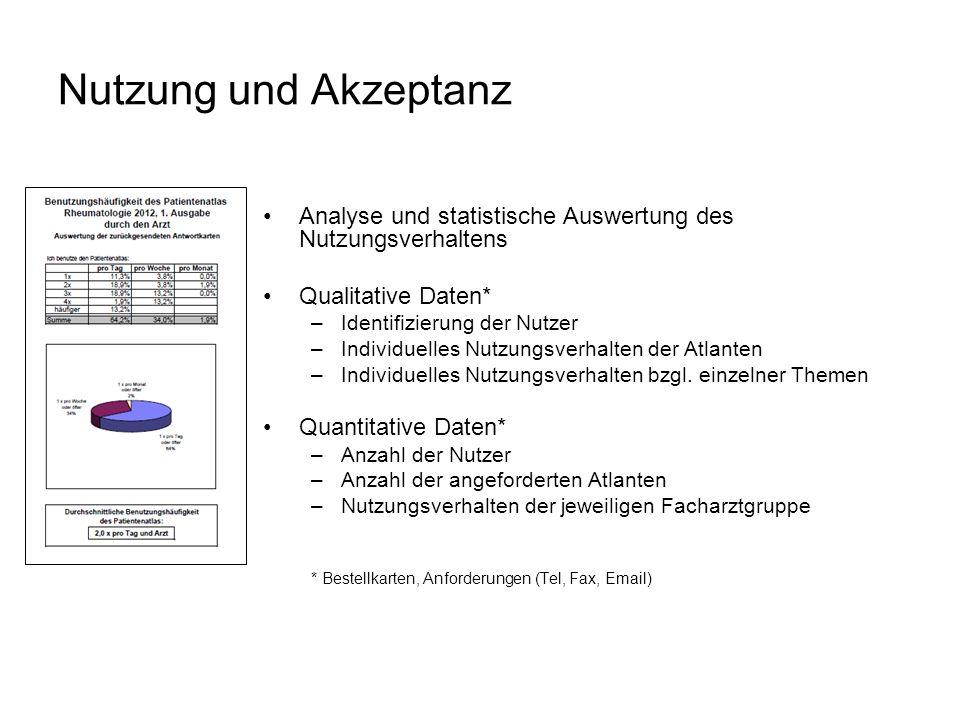 Nutzung und Akzeptanz Analyse und statistische Auswertung des Nutzungsverhaltens. Qualitative Daten*