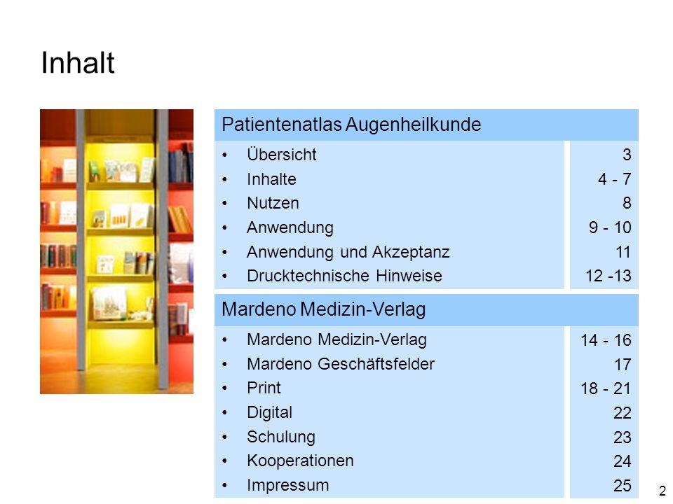 Inhalt Patientenatlas Augenheilkunde Mardeno Medizin-Verlag Übersicht