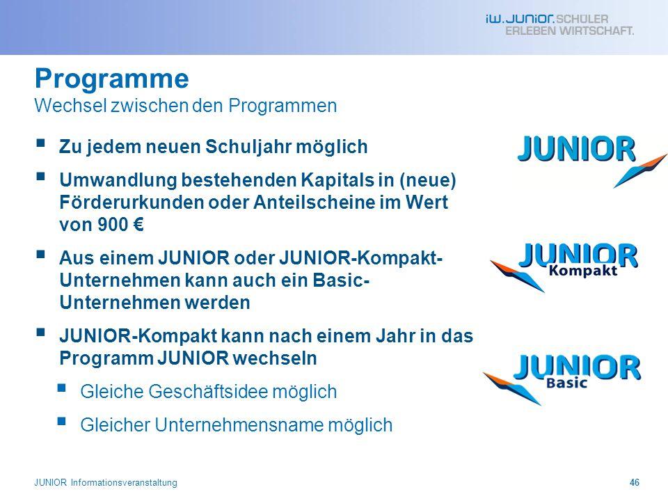 Programme Wechsel zwischen den Programmen