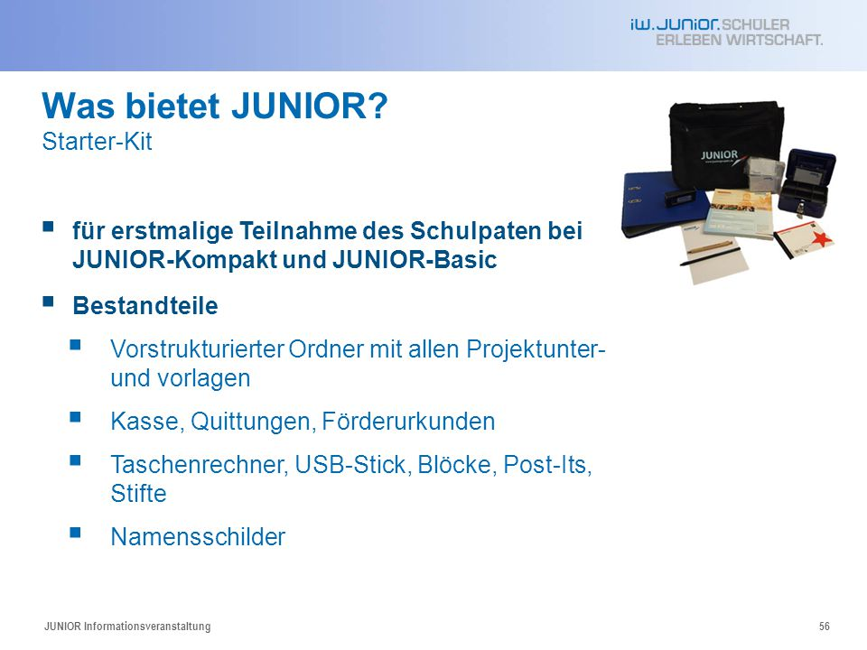 Was bietet JUNIOR Starter-Kit