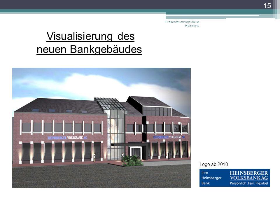 Visualisierung des neuen Bankgebäudes