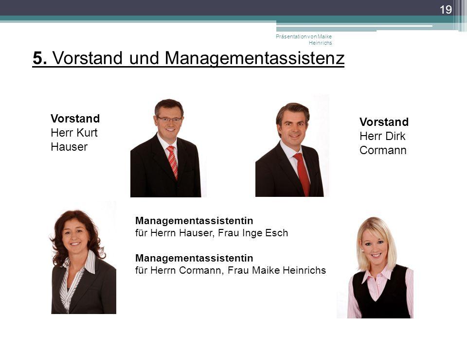 5. Vorstand und Managementassistenz