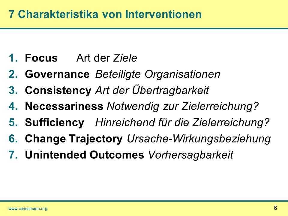7 Charakteristika von Interventionen