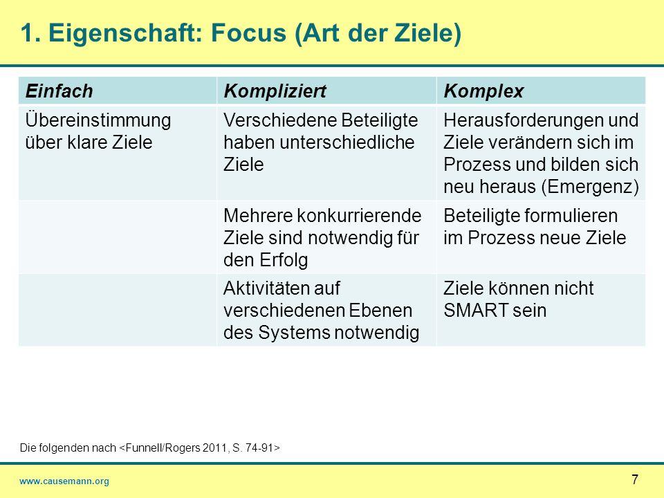 1. Eigenschaft: Focus (Art der Ziele)