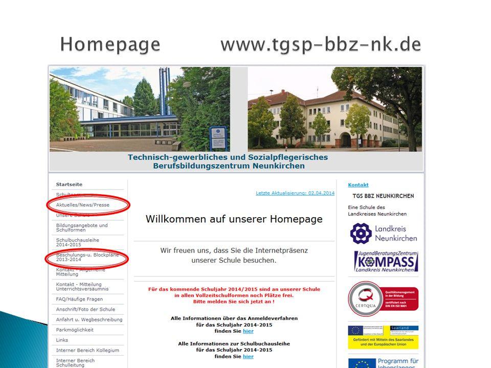 Homepage www.tgsp-bbz-nk.de