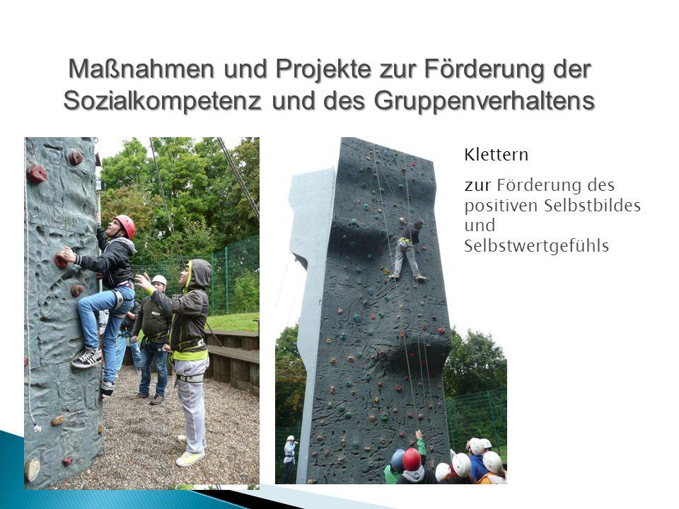 Maßnahmen und Projekte zur Förderung der Sozialkompetenz und des Gruppenverhaltens