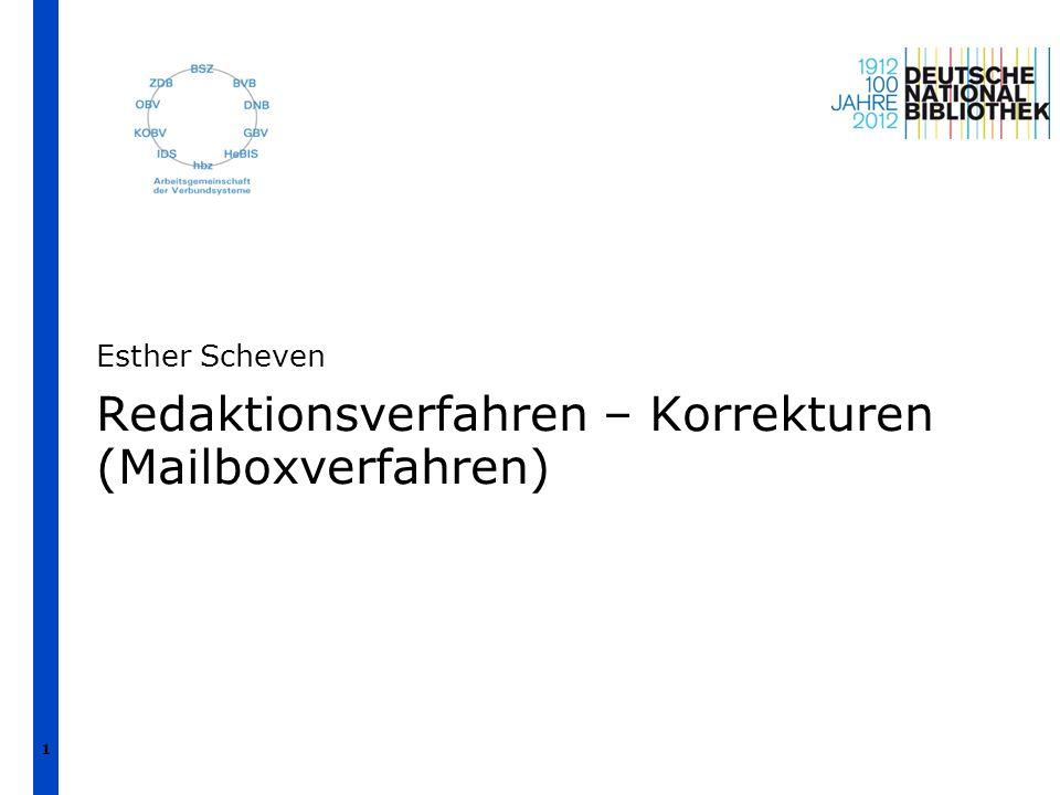Redaktionsverfahren – Korrekturen (Mailboxverfahren)