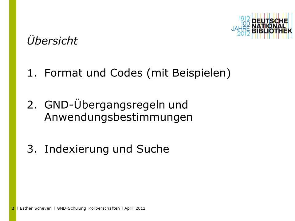 Format und Codes (mit Beispielen)