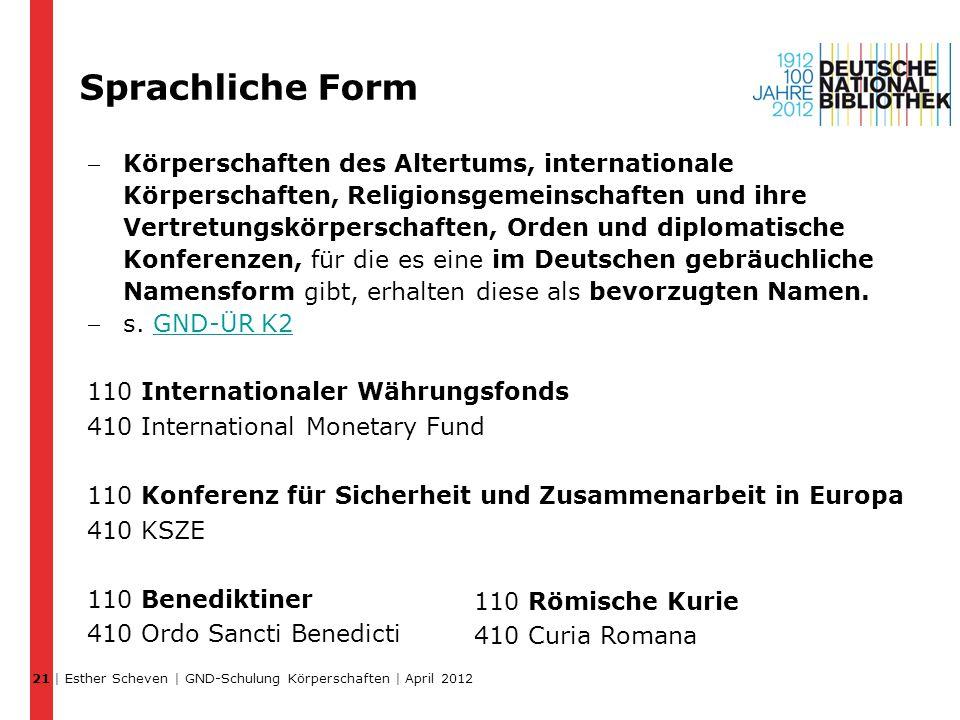 21 Sprachliche Form.