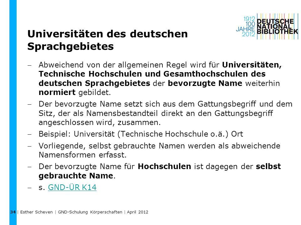 Universitäten des deutschen Sprachgebietes
