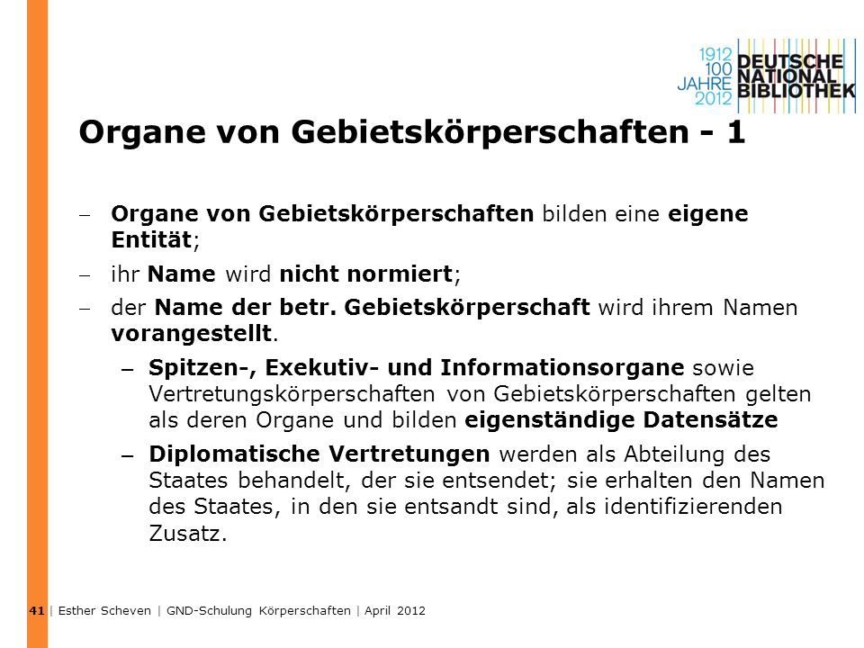 Organe von Gebietskörperschaften - 1