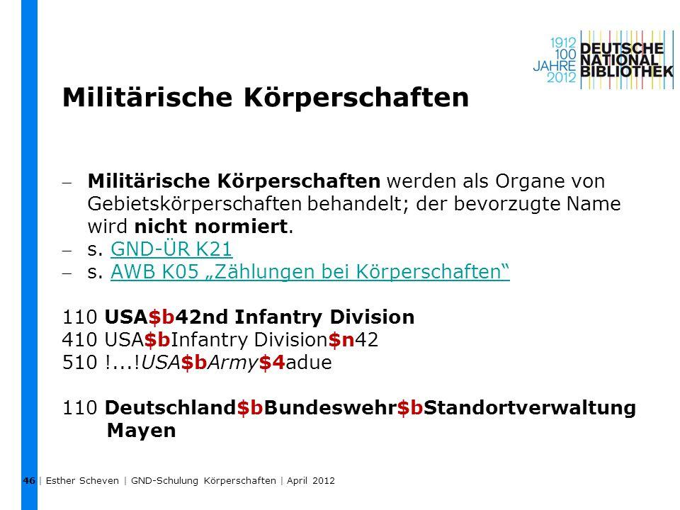 Militärische Körperschaften