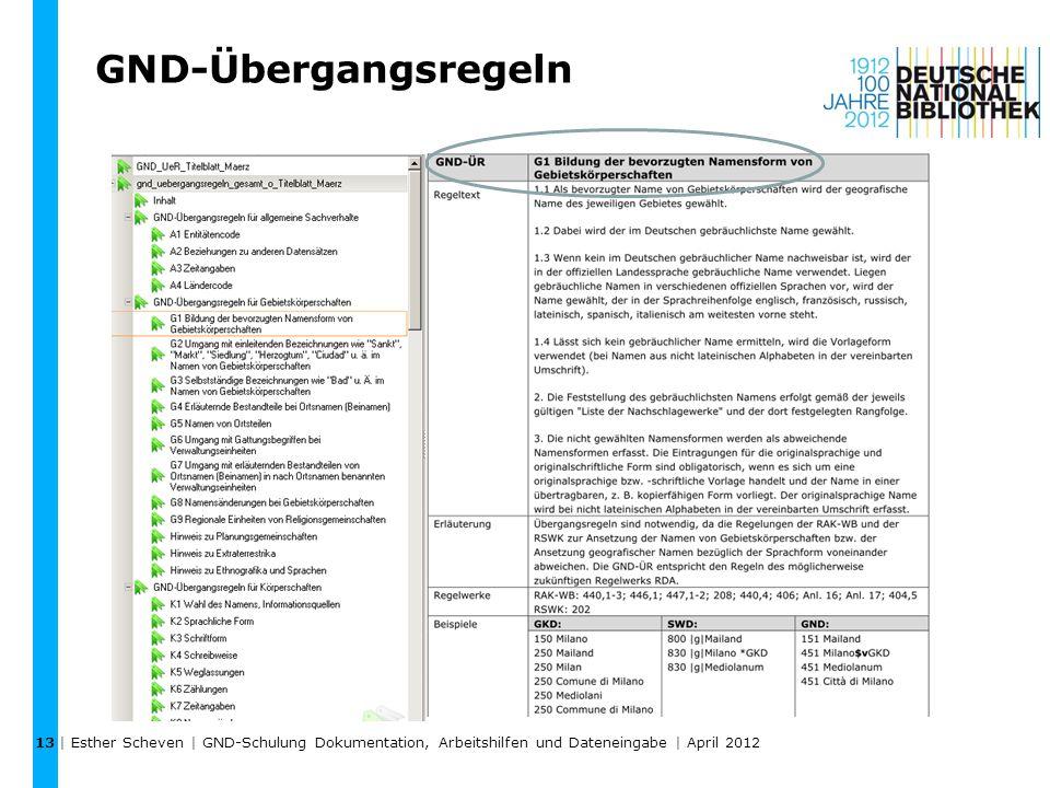 13 GND-Übergangsregeln.