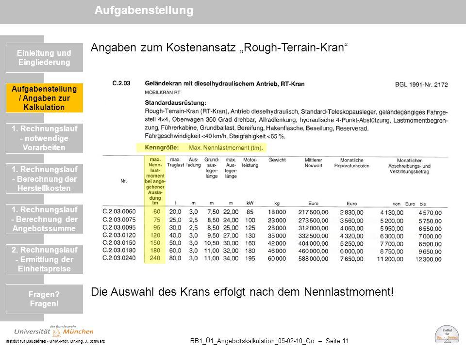 "Angaben zum Kostenansatz ""Rough-Terrain-Kran"