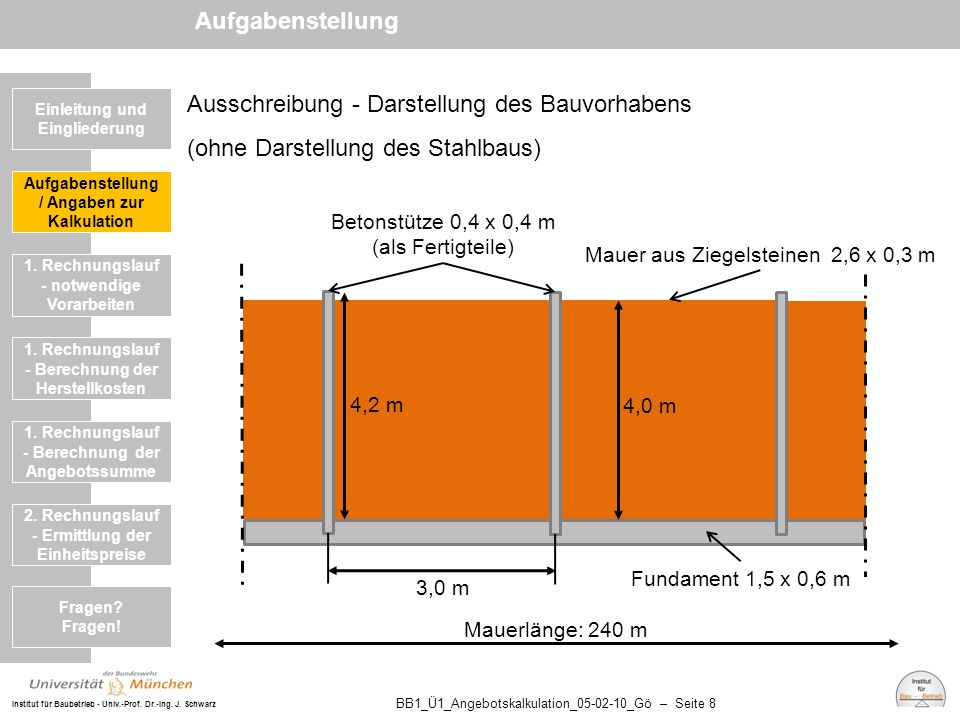 Aufgabenstellung Ausschreibung - Darstellung des Bauvorhabens (ohne Darstellung des Stahlbaus) Einleitung und Eingliederung.
