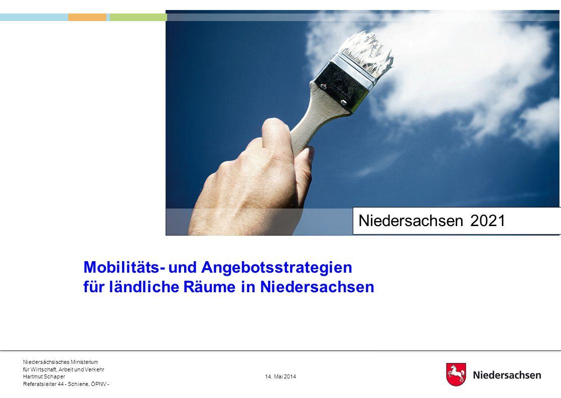 Niedersachsen 2021 Mobilitäts- und Angebotsstrategien für ländliche Räume in Niedersachsen