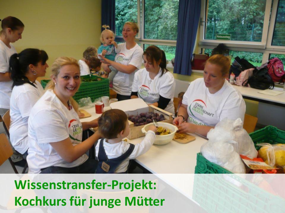 Wissenstransfer-Projekt: Kochkurs für junge Mütter