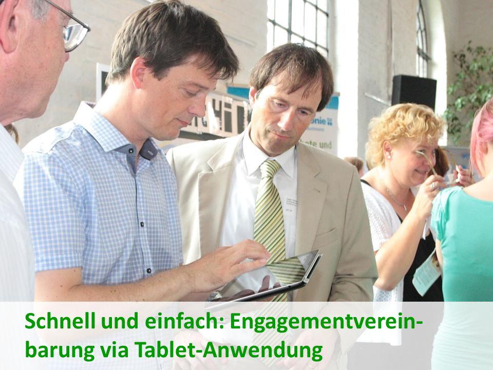 Schnell und einfach: Engagementverein-barung via Tablet-Anwendung