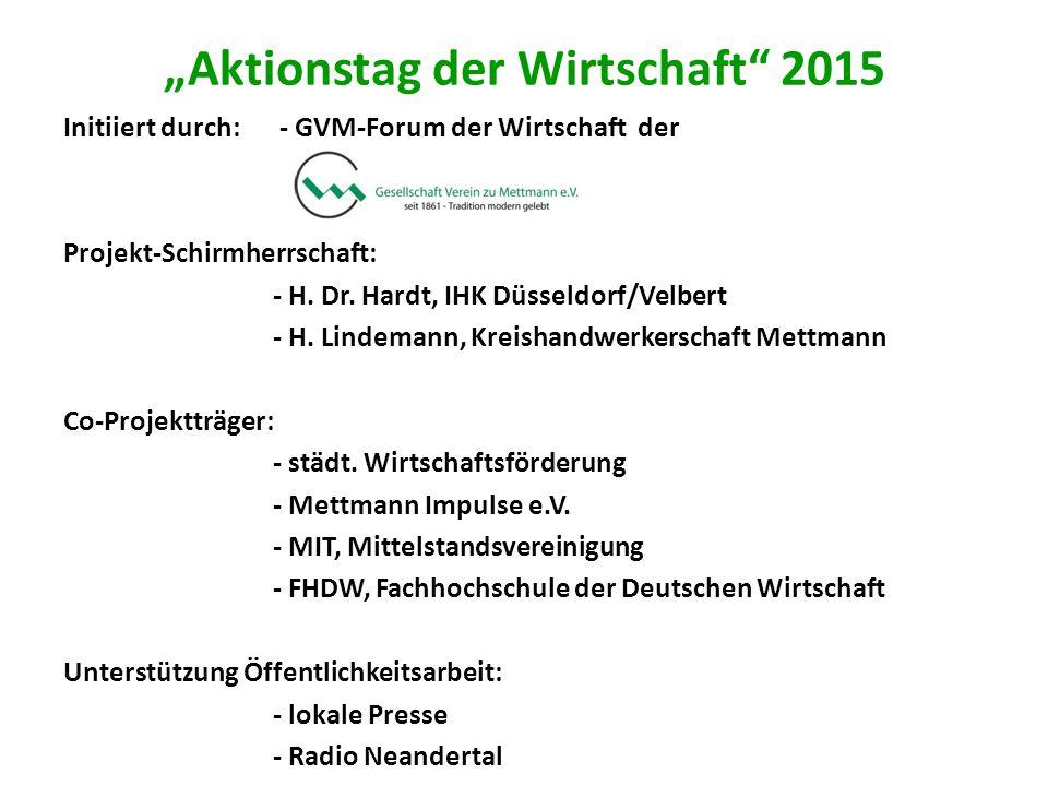 """""""Aktionstag der Wirtschaft 2015"""