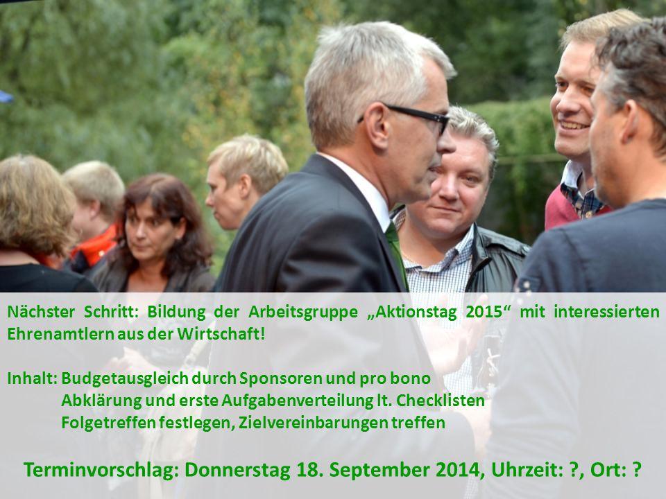 Terminvorschlag: Donnerstag 18. September 2014, Uhrzeit: , Ort: