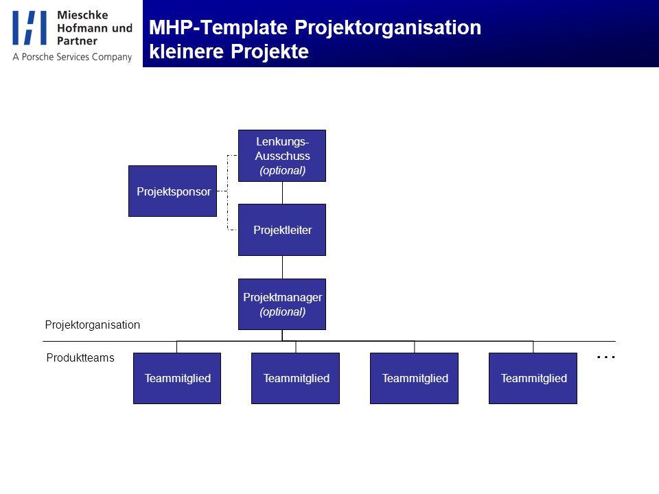 MHP-Template Projektorganisation kleinere Projekte