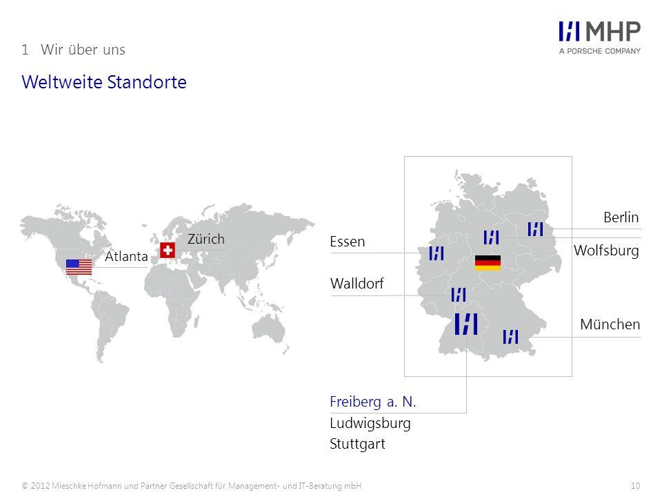 Weltweite Standorte 1 Wir über uns Berlin Essen Wolfsburg Walldorf