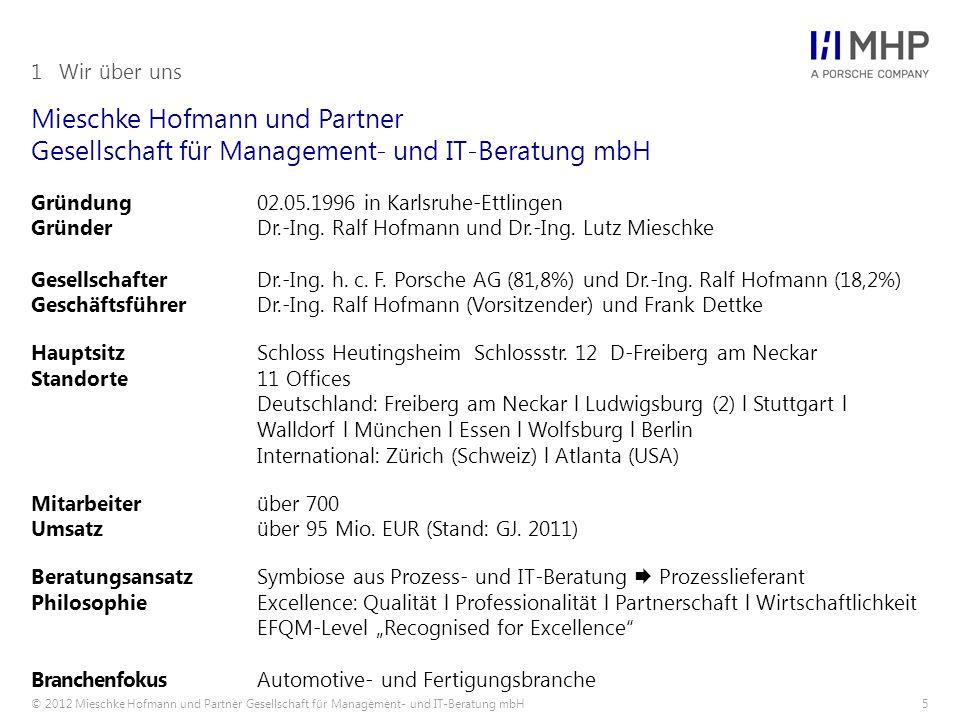 1 Wir über uns Mieschke Hofmann und Partner Gesellschaft für Management- und IT-Beratung mbH.