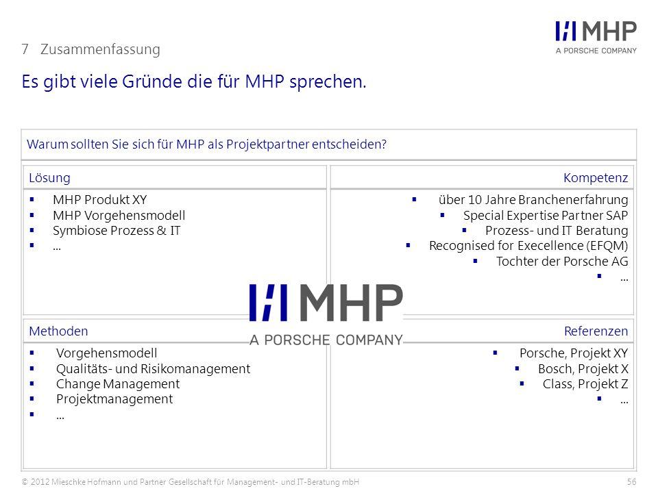 Es gibt viele Gründe die für MHP sprechen.