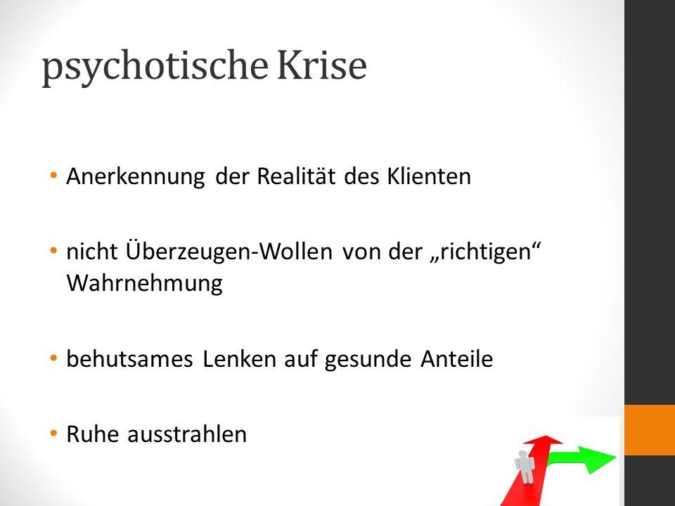 psychotische Krise Anerkennung der Realität des Klienten