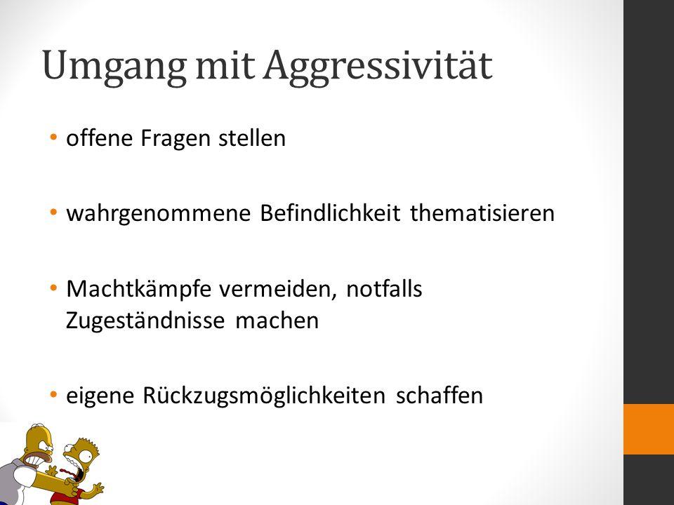 Umgang mit Aggressivität