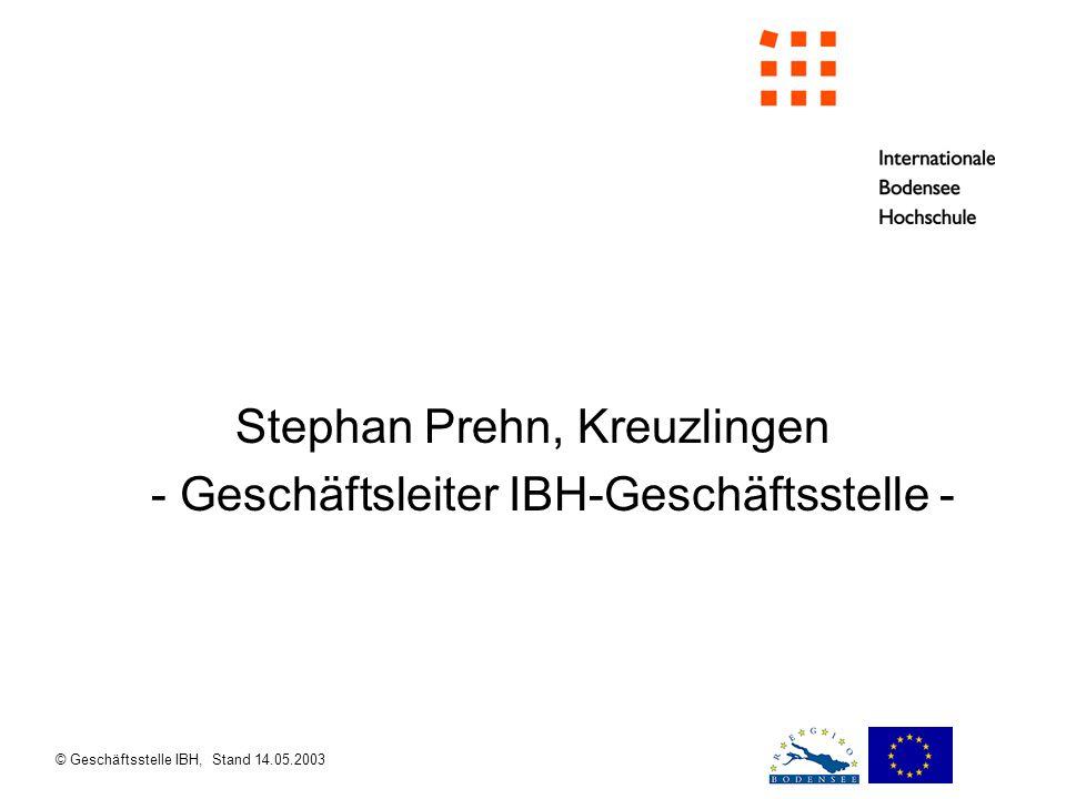 Stephan Prehn, Kreuzlingen - Geschäftsleiter IBH-Geschäftsstelle -