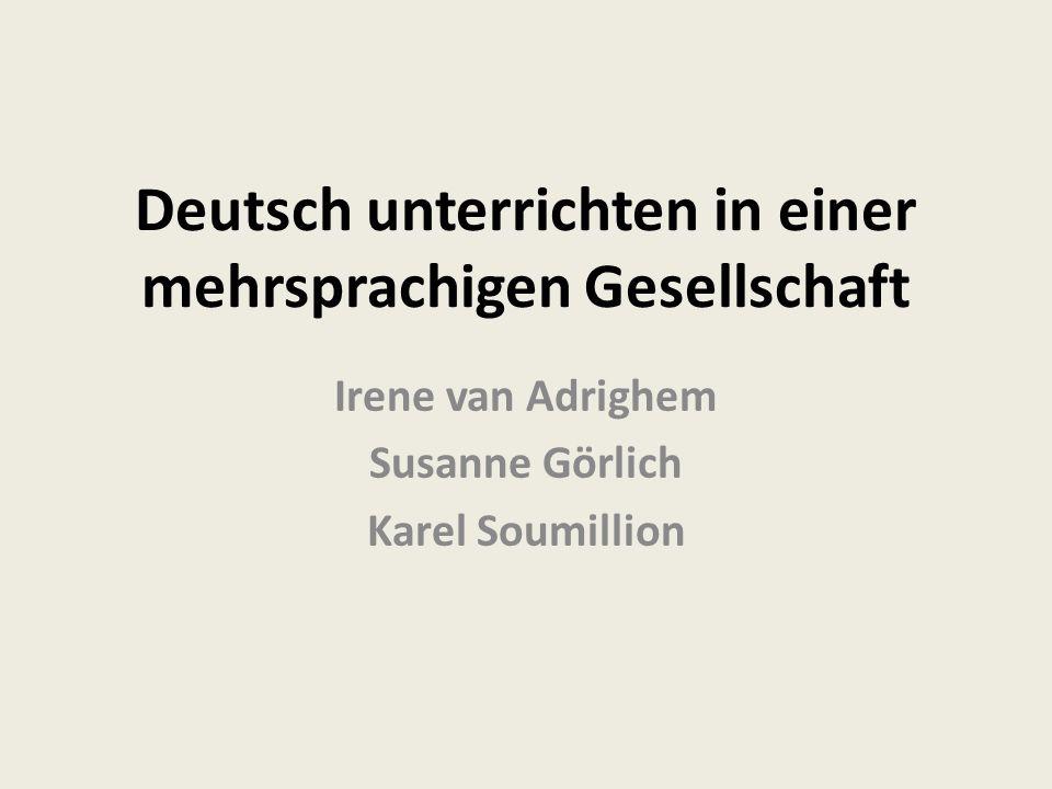 Deutsch unterrichten in einer mehrsprachigen Gesellschaft