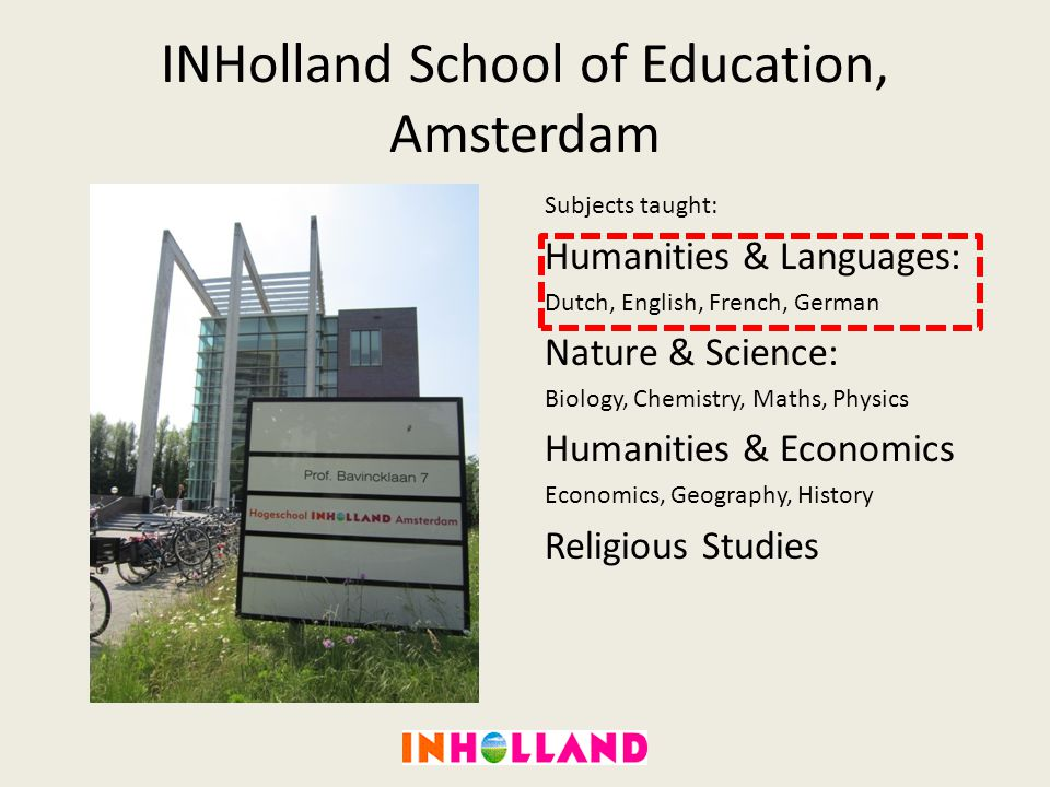 INHolland School of Education, Amsterdam