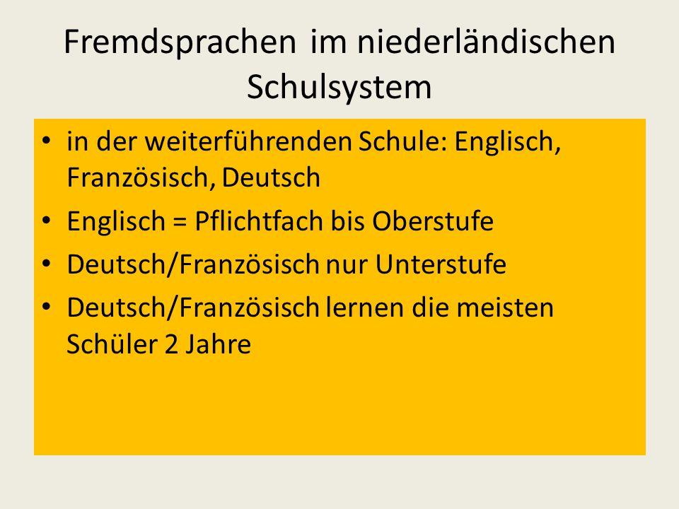 Fremdsprachen im niederländischen Schulsystem