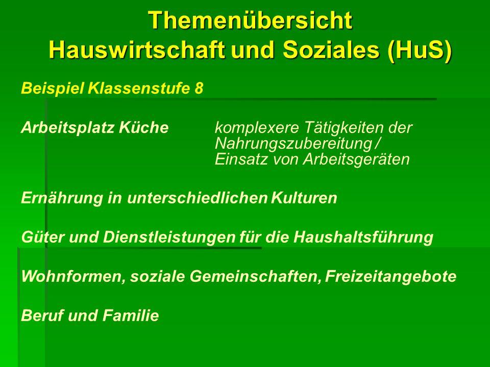 Hauswirtschaft und Soziales (HuS)