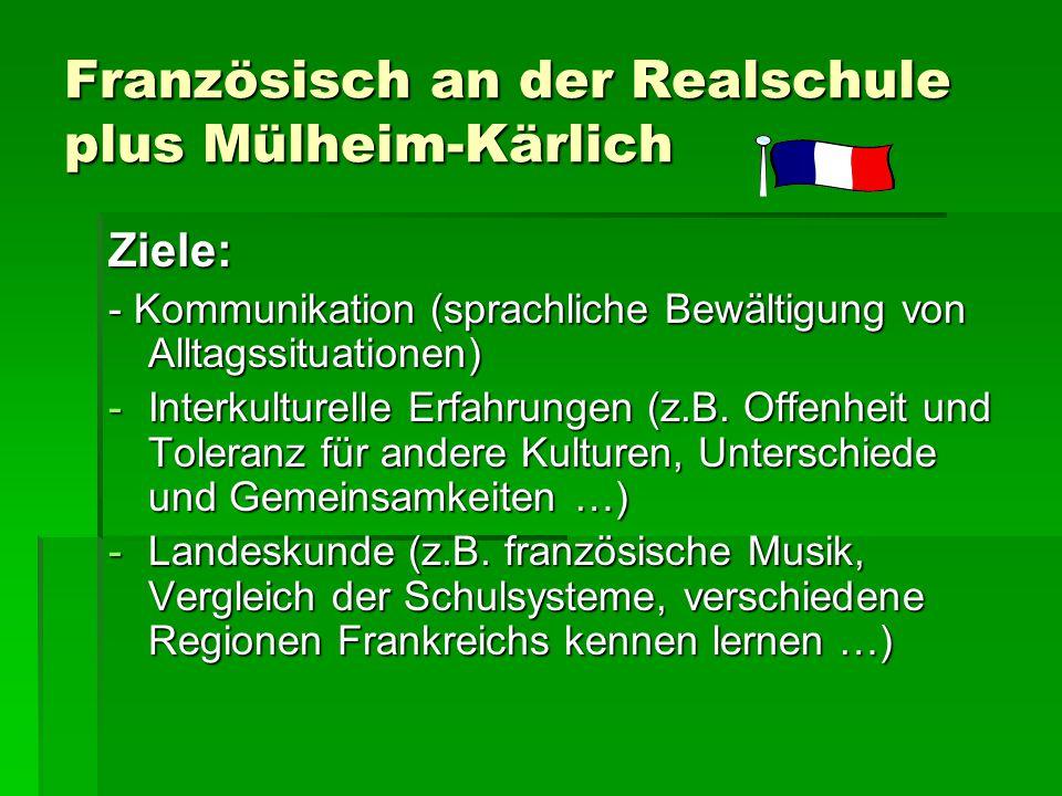 Französisch an der Realschule plus Mülheim-Kärlich