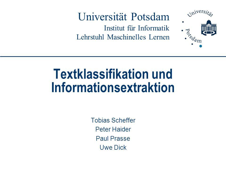 Textklassifikation und Informationsextraktion