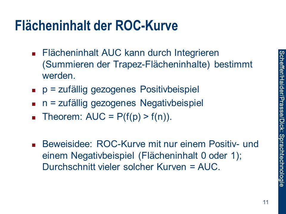 Flächeninhalt der ROC-Kurve
