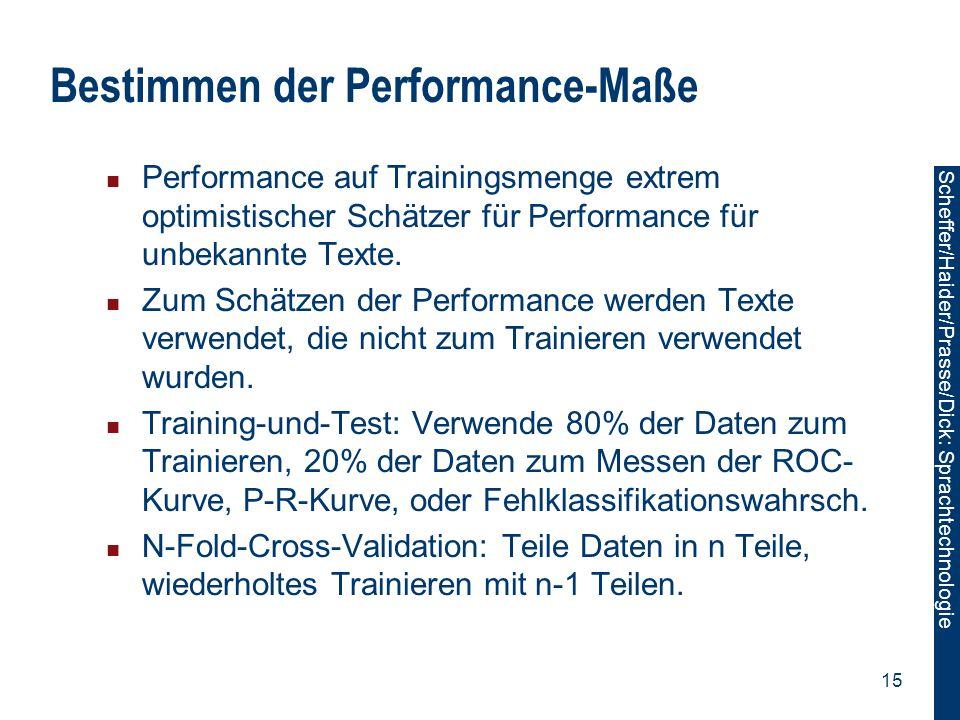 Bestimmen der Performance-Maße