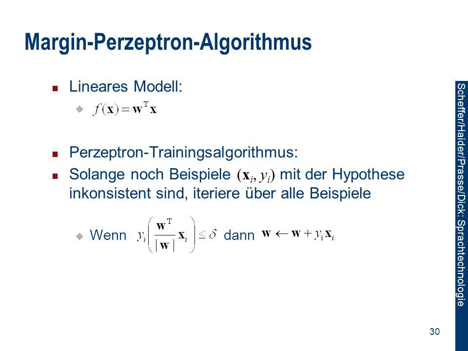 Margin-Perzeptron-Algorithmus