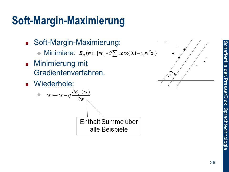 Soft-Margin-Maximierung