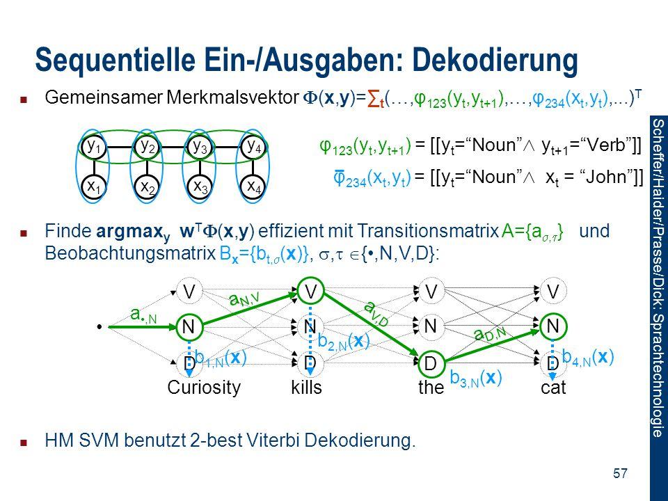 Sequentielle Ein-/Ausgaben: Dekodierung