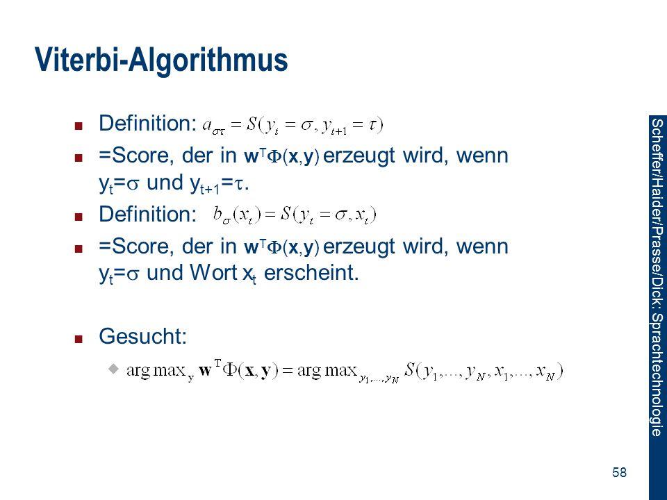 Viterbi-Algorithmus Definition: