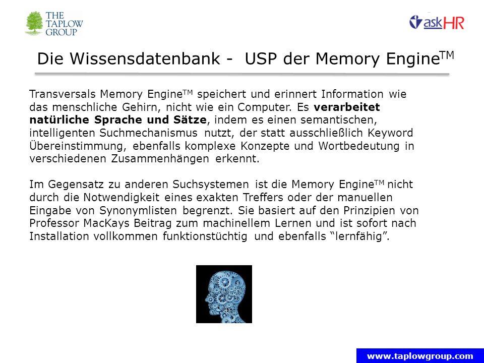 Die Wissensdatenbank - USP der Memory EngineTM