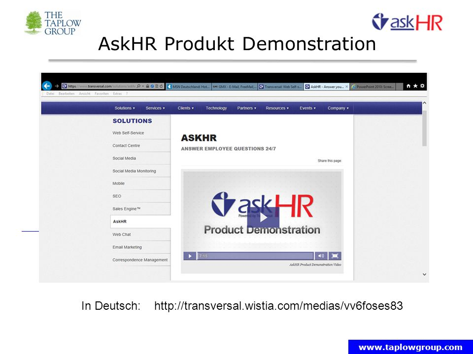 AskHR Produkt Demonstration