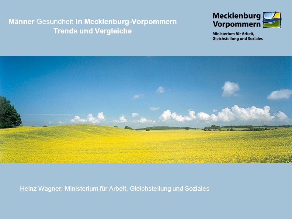 Männer Gesundheit in Mecklenburg-Vorpommern Trends und Vergleiche