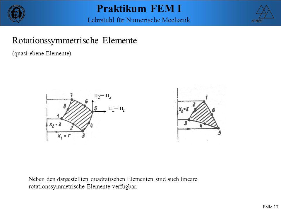 Rotationssymmetrische Elemente