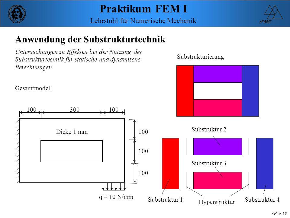 Anwendung der Substrukturtechnik