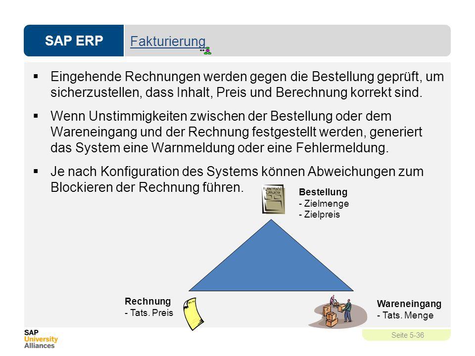 Fakturierung Eingehende Rechnungen werden gegen die Bestellung geprüft, um sicherzustellen, dass Inhalt, Preis und Berechnung korrekt sind.