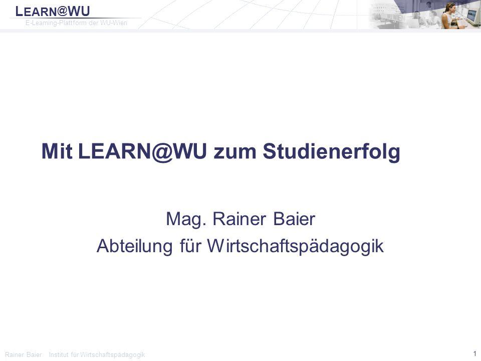 Mit LEARN@WU zum Studienerfolg